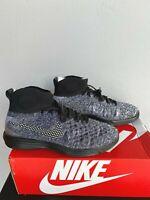 New Nike Lunar Magista II FK FC 876385-001 Mens Sz 12 Black White Flyknit Shoes