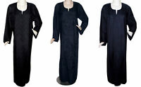Plus Size Black Cotton Embroidered Women Kaftan Caftan long Arabic Dress Abaya
