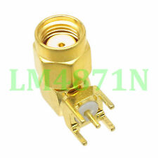 1pce Connector RP.SMA male jack pin 90° solder PCB mount 5.08mm right angle 1pce