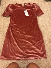 WAYF Velvet dress xs Women's Extra Small Pink