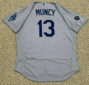 MAX MUNCY size 46 #6 2019 LOS ANGELES DODGERS ALT game jersey NEWK 150 MLB
