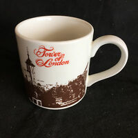 "London Scenes by Mid-Winter  Coffee Mug  Tower of London  Staffordshire  3 1/4"""