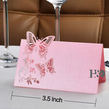 120PCS Pink Butterfly Laser Cut Wedding Party Table Name Place Cards Favor Decor