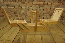 60er Mid-Century Nähtisch Utensilo Nähkorb Nähkasten Sewing Box Regal Holz 50er