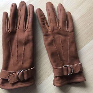 Esprit Damen Handschuhe Touchscreen Combi leather gloves 7,5 Schwarz 109EA1R002