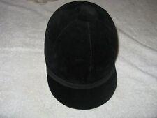 "NEW VINTAGE EQUESTRIAN  BLACK VELVET  HORSE RIDING  JOCKEY - HAT / CAP 7 1/8"""