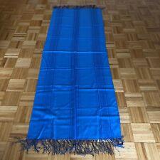 Authentic Russian Pavlovo Posad Shawl Scarf 100% Wool | Silk Fringe | 70x200 cm