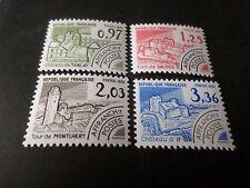 FRANCE 1982 SERIE TIMBRES PREOBLITERES 174/177 neufs**, VF MNH PRECANCEL STAMPS