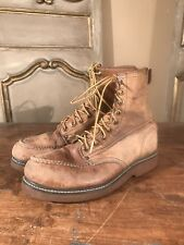 VTG Leather Men's Work Chukka Good Year Irish Setter Boots Vulcan Sole Sz 8.5