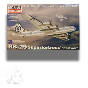 "MINICRAFT 1/144 RB-29 SUPERFORTRESS ""POSTWAR"" MODEL KIT14749"
