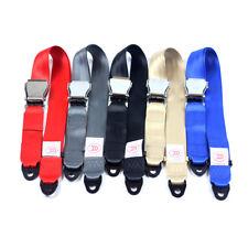 Black Airplane Seat Belt Extender Adjustable Heavy Duty Flight Extension Buckle