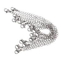 8PCS Halskette Kette Extender mit Karabinerverschluss Schmuck machen New