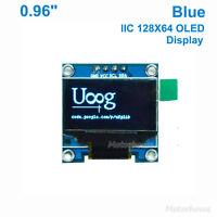 """Blue 0.96"""" I2C IIC128X64 OLED LCD LED Display Module Screen SSD1306 ForArduino"""