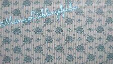 Baumwolle Meterware Vintage Tilda Emily Blume Emily blau Blumen flowers 12€/m
