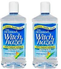 Dickinson's Witch Hazel 100 % Natural Astringent 2 Bottle Pack