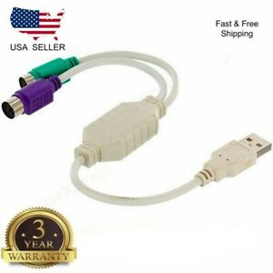 New Generic For PS/2 PS2 to USB Male Converter Adapter Cable for Keyboard/Mouse