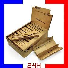 10 24 paquet feuille slim à rouler MOON avec carton non blanchi chanvre naturel