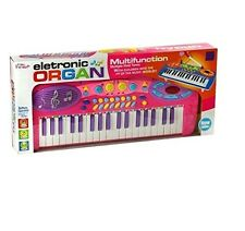 New Kids Electronic Toy Rockstar Keyboard Piano Tune Set With Microphone PINK