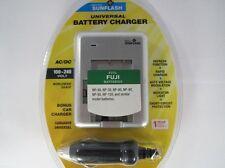 FUJI NP40 & Similar Model Universal Charger by Digital Sunlflash - Silver