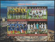Madagascar 7602 - 2018 FOOTBALL WORLD CUP perf sheet of 4 unmounted mint