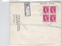 millhill to france 1964 large folded stamps cover ref 8607