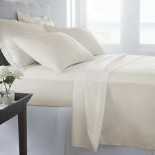 Sheet Set Egyptian Cotton 820TC Solid Ivory Queen By Malibu Home