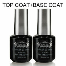 8ml UV Gel Nail Polish Top Coat Base Coat Gel Polish Set Soak Off Nail Art kits