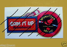 WurliTzer 1940,s Coin it up Jukebox Machine Water Release Decal + No Slugs cheap