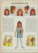 1971 McCalls Paper Dolls Betsy McCall Tries 5 New Hairdos Print Ad