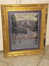 """William Dorsey Original Oil Painting Canvas 22""""x28"""" Signed Ski Resort California"""