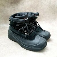 Falls Creek Mens Blizzard  Sz 8 M Black Thinsulate Lace Up Winter Snow Boots