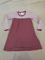 Hanna Andersson Dress 130 Girls Striped Playdress No Buttons