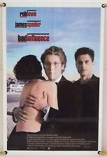 BAD INFLUENCE FF ORIG 1SH MOVIE POSTER JAMES SPADER HELMUT NEWTON (1990)