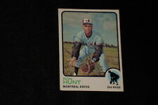 RON HUNT 1973 TOPPS SIGNED AUTOGRAPHED CARD #149 EXPOS