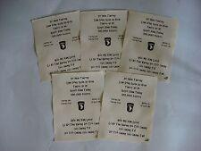 Vietnam War 5 VC Propaganda Leaflets Against US 101st AIRBORNE Divsision