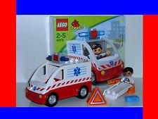 LEGO DUPLO~KRANKENWAGEN~RETTUNGSWAGEN~MIT~BLAULICHT~SIRENE 4979