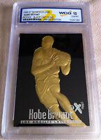 KOBE BRYANT 1996-97 EX-2000 LTD ED. BLACK WCG GEMMT 10 23KT GOLD ROOKIE CARD