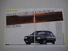 advertising Pubblicità 1988 FIAT CROMA TURBO IE