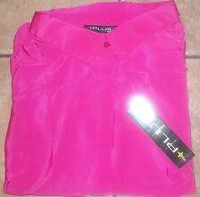 Womens PLUS MODA~Dressy BLOUSE size 4X~NWT~Tank TOP Shirt~White Pink Black Shell