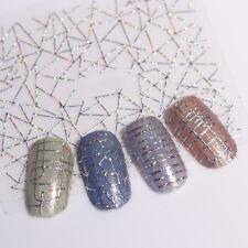 12 Muster Holo 3D Nagelsticker Nail Stickers Laser Aurora Linie Tattoo Aufkleber