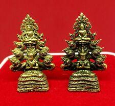 Buddha on God of Naga Statue Talisman Wealthy Lucky Dragon Thai Buddhist Amulet