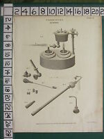 1811 Datato Antico Stampa ~Chimica~ Insufflatore Vari Apparato Equipment