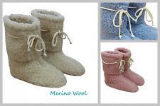 ¡OFERTA! Merino Wool Zapatillas Rosa Azul Crudo Lana Botas Todos los números
