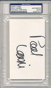 PSA/DNA SIGNED INDEX CARD  PAUL LAWRIE    i7477