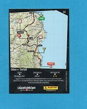 PANINI-100° GIRO D'ITALIA-Figurina/CARD C3- 2^ TAPPA : OLBIA-TORTOLI' -NEW