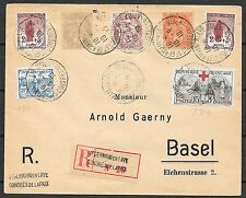 France covers 1919 mixed franked R-cover St.Germaine en Laye to Basel