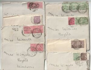 1921/5 8 ENVs & CHATTY LETTERS INDIA BANGALORE TO MISS WINDELLS ROYSTON DORSET