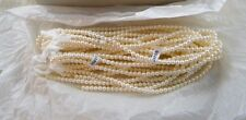Vintage New ~ 3 Sets Of 3 Faux Pearl Varying Length Partial Necklaces ~ Japan