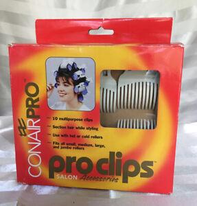 Conair Pro Clips 10 Pcs Salon Hot Cold Roller Hair Curlers Revlon Sally Ulta NEW