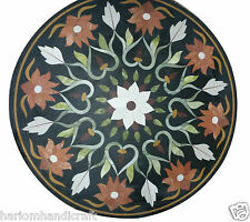2'x2' Marble Coffee Table Top Jasper Floral Collectible Patio Furniture Art H940